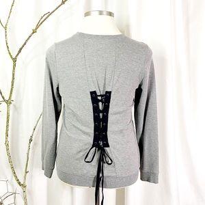 Torrid Corseted Tie Back Sweatshirt Size 0